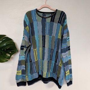 Vintage Tundra multi color sweater, men's XXL